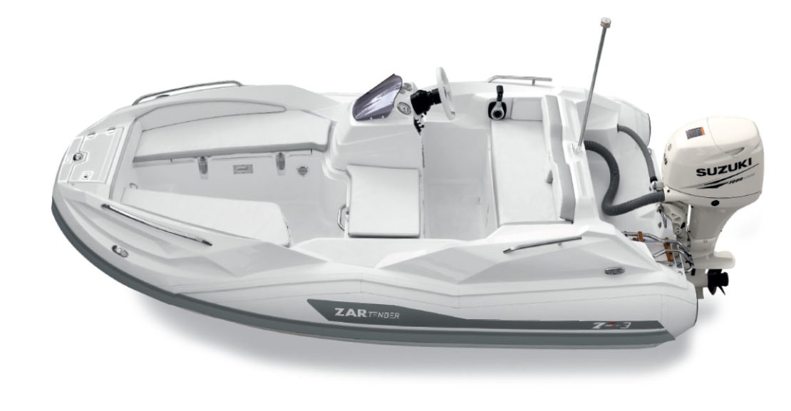 Capitaine Plaisance concessionnaire-vente Annexe bateau yacht Zar Tender ZF3 hord bord